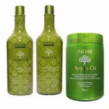 Kit Shampoo   Condicionador 1l   Máscara Argan Oil 1kg Inoar