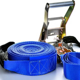 Kit Slackline Cinta 15 7 Mt Azul Alça Catraca Protetor Bolsa