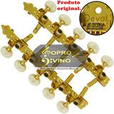 Kit Tarraxa Viola Caipira Pino Fino Dourada Deval Aba5011
