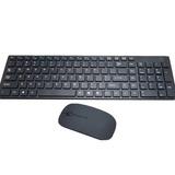 Kit Teclado   Mouse 3200 Dpi  Sem Fio Wireless Sensor Óptico