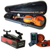 Kit Violino Barth Nt 4 4 C estojo  Espaleira  Afin frete bk