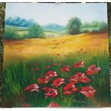 Lindo Quadro Paisagem Pintura A Óleo 60 X 60 Cm