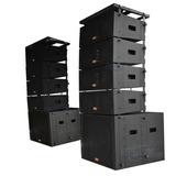 Line Array Amplificado Caixa Som 2 Subwoofer 18   2 Woofer 8