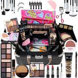 Maleta Maquiagem Completa Base Ruby Rose Macrilan Pinceis