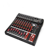 Mesa De Som Bluetooth Usb Mixer Mp3 Digital 8 Canais Le711