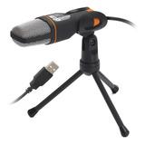 Microfone Condensador Usb Estudio Knup Gravação Profissional