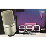 Microfone Mxl 990 Para Estudio Kit Com Case E Aranha Novo