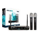 Microfone Sem Fio Duplo Vhf Profissional Vokal Vws 20 Plus
