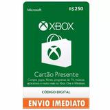 Microsoft Gift Cartão Xbox Br Brasil R$250  2x 100 50  Reais
