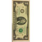 Nota De 2 Dólares   Flor De Estampa   R$24 99
