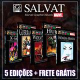 Pacote Marvel   5 Salvat Capa Preta   Promoção Frete Grátis