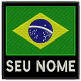 Patch Bordado Bandeira Brasil Com Seu Nome Tam 9x9cm Esp52 838701c3f87d0