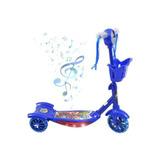 Patinete Musical Infantil Vingadores Com Luzes Cesta