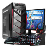 Pc Completo Gamer Monitor Lcd    30 Jogos