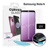 Película Vidro Cola Líquida Uv Galaxy Note 8
