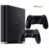 Playstation 4 Slim Sony 500gb Ps4 Original Bivol 2 Controles 19215b72001a0