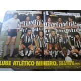 Poster Atlético Mineiro 1977 Manchete Esportiva Reinaldo Joã