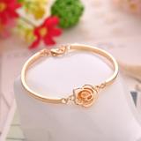 8f821ca8825 Pulseira Feminina Bracelete Dourada Love Crystal Ajustável