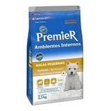 Ração Premier Ambientes Internos Super Premium Cachorro Filhote Raça Pequena Frango salmão 2 5kg