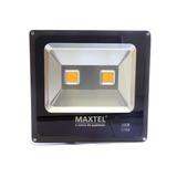 Refletor Led 100w Holofote Maxtel Branco Frio Bivolt Ip66