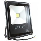 Refletor Led 30w Holofote Maxtel Branco Quente Bivolt Ip66