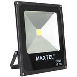 Refletor Led 50w Holofote Maxtel Branco Quente Ip66 Bivolt