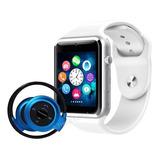 Relógio Celular Inteligente   Fone Sem Fio Bluetooth