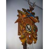 f8d914abdc5 Relógio Cuco Musical Alemão Modelo Caçador Floresta Negra
