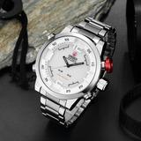 c3cf85f2eb4 Relógio De Pulso Em Aço Inoxidável Ohsen Luxo Novo