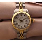 c1ed7a59a2d Relógio De Pulso Feminino Rolex Calendário Em Aço J17299
