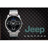 a7fcc35903b Relógio De Pulso Personalizado Logo Painel Jeep Compass 2018