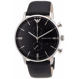 c1c5b395604 Relógio Emporio Armani Ar0397 Clássico Preto Couro Original