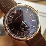 b08c75d7f7fae Marrom Relógio Emporio Armani   Loja do Som - Shopping, Música ...