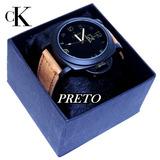Relógio Masculino Ck Lançamento   Caixa   Brinde Promoção