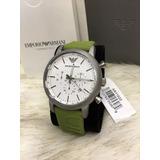0d0ba245653 Relógio Masculino Emporio Armani Ar11022 Verde Lindo C26