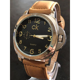 63d6c408dc5 Relógio Masculino Luxo Top Pulseira Couro Social Barato