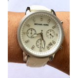 12833867ff4 Relógio Michael Kors 5049 Fundo Madrepérola C Manual Caixa