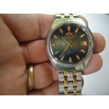 b6f20fa503c Relógio Orient Automático Antigo Azul Degradê
