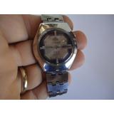 db42828de5a Relógio Orient Automático Antigo Prata E Preto Ótimo