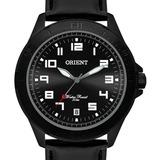 Relógio Orient Masculino  Couro Preto   Mpsc1008 P2px