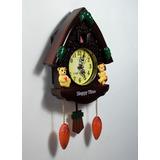 c9ca691550e Relógio Parede Cuco Musical De Pendulo 12 Músicas Diferentes