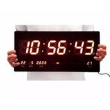 d238d248d00 Relógio Parede Led Digital 46cm Data Termometro G