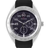 Relógio Technos Masculino Preto Prata Promoção Nfe 6p22af 8a
