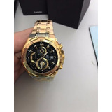 2d2f93784c0 Relogio edifice 558 Dourado Completo Black gold Top