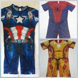 Roupa Homem Aranha  Capitao America E Homem De Ferro