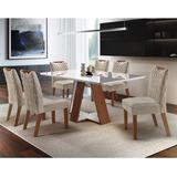 Sala Jantar 6 Cadeiras Grécia Chanfro Premium Lj A
