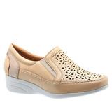1317514898 Sapato Feminino Anabela Em Couro Porcelana 3141 Doctor Shoes