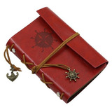 Sketchbook Caderno Retrô Couro Folhas Envelhecidas Vintage