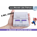 Super Nintendo 2 Controles 8 Mil Jogos n64  Ps1   Nf