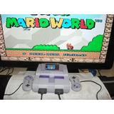 Super Nintendo Completo   2 Controles Original   Mario World